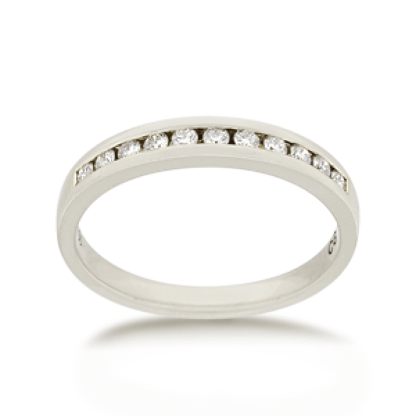 18ct Round Brilliant-cut 0.33ct TDW Diamond Band
