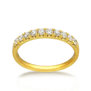 18ct Round Brilliant-cut 0.40ct TDW Diamond Band