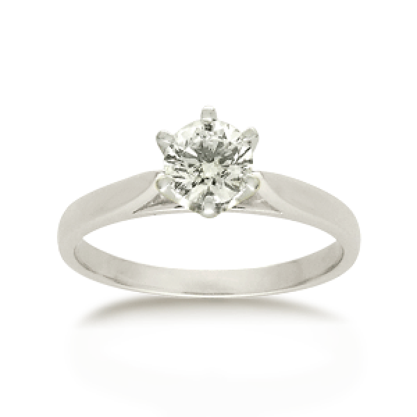 18ct Round Brilliant-cut 0.50ct Diamond Solitaire