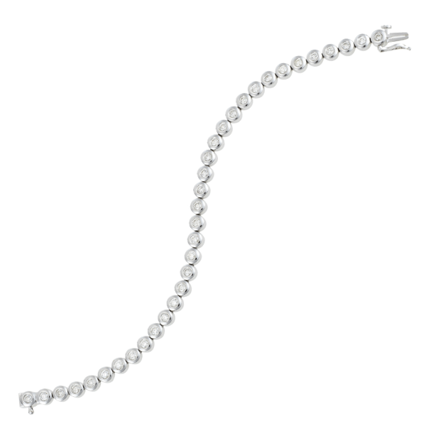 18ct White Gold 2.51ct TDW Diamond Bracelet