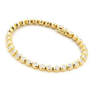 18ct Yellow Gold 3.10ct TDW Diamond Bracelet