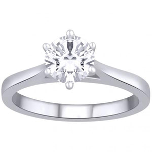 18ct white gold 1.00ct diamond solitaire ring