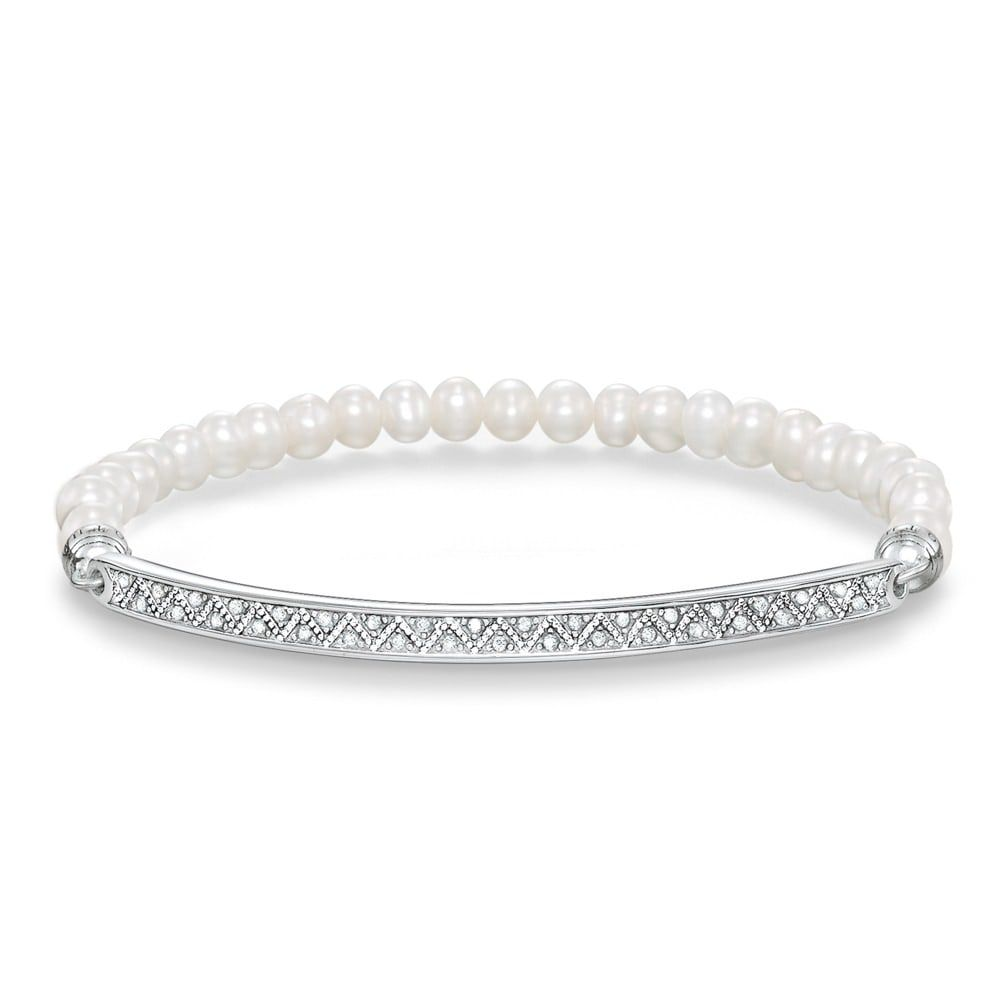THOMAS SABO LOVE BRIDGE FRESHWATER PEARL BRACELET