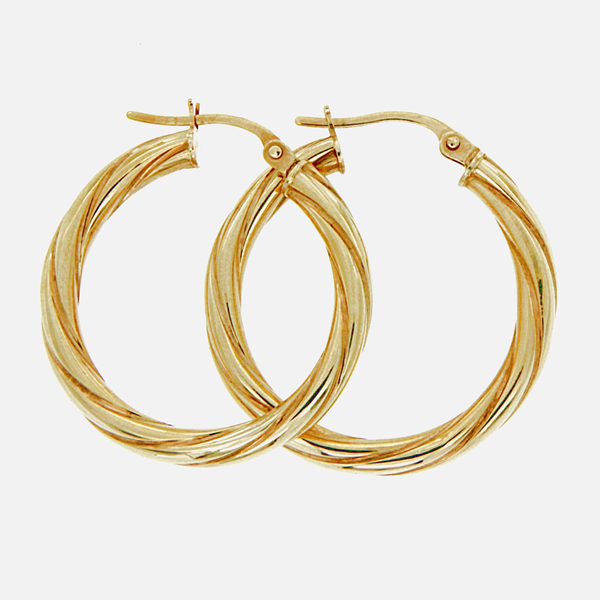 9ct 20mm twist hoops