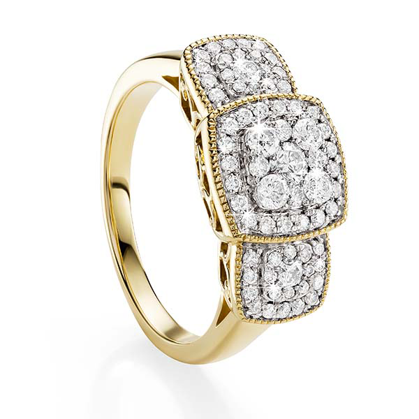 9ct Gold 0.75ct Diamond Ring