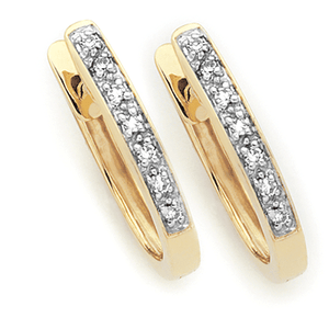 9ct Gold Oval Huggies