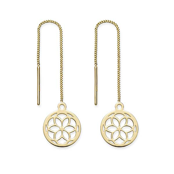 9ct Gold Thread Earrings