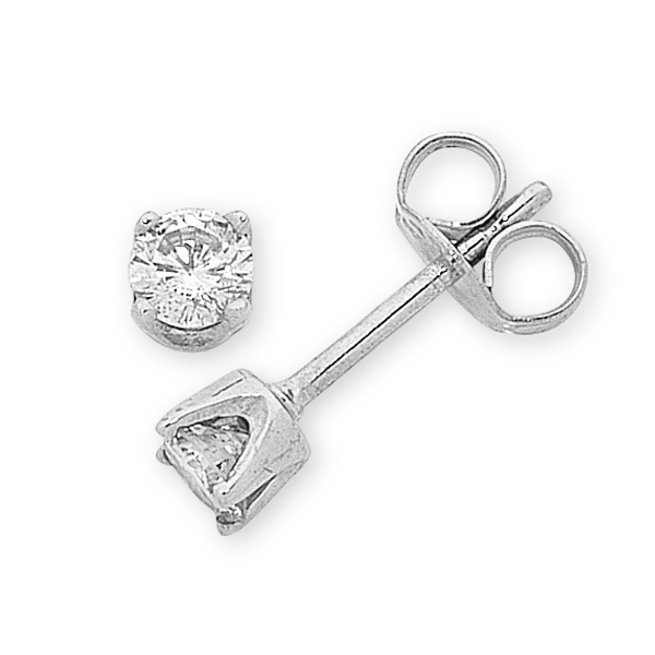 9ct White Gold 12pt TDW  Diamond Studs