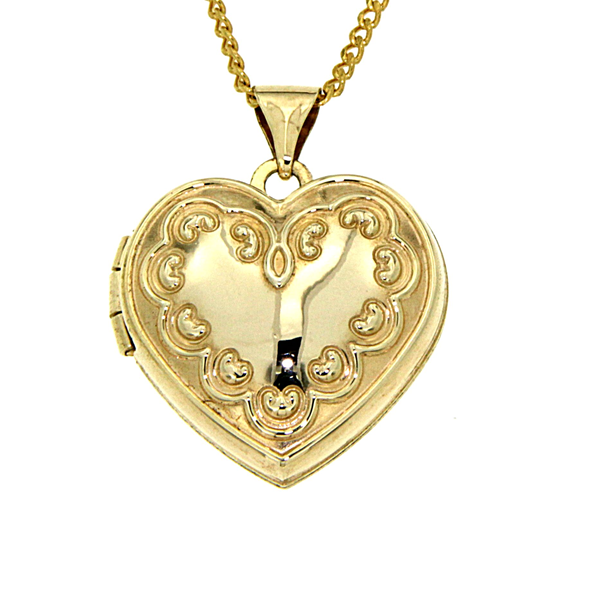 9ct gold-bonded silver heart locket