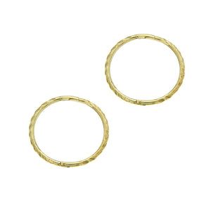 9ct gold large twist sleeper