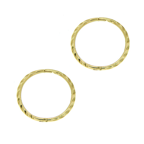 9ct gold medium twist sleeper