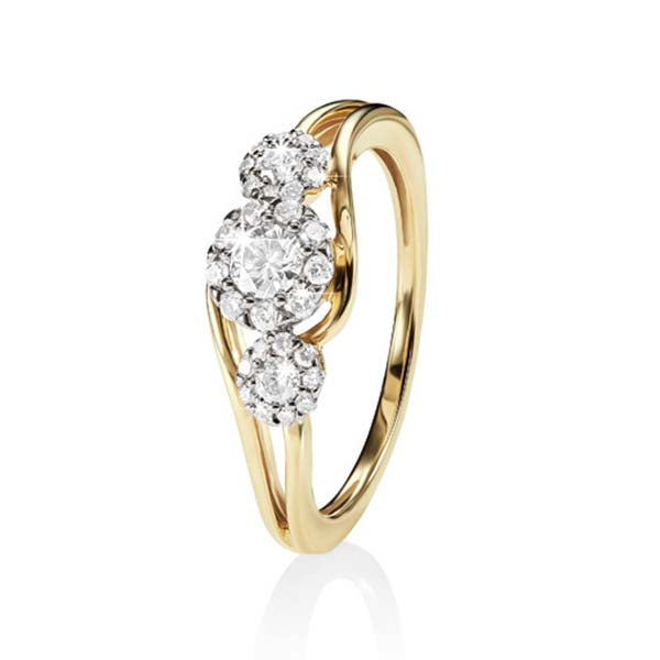 9ct gold 0.40ct+ diamond ring