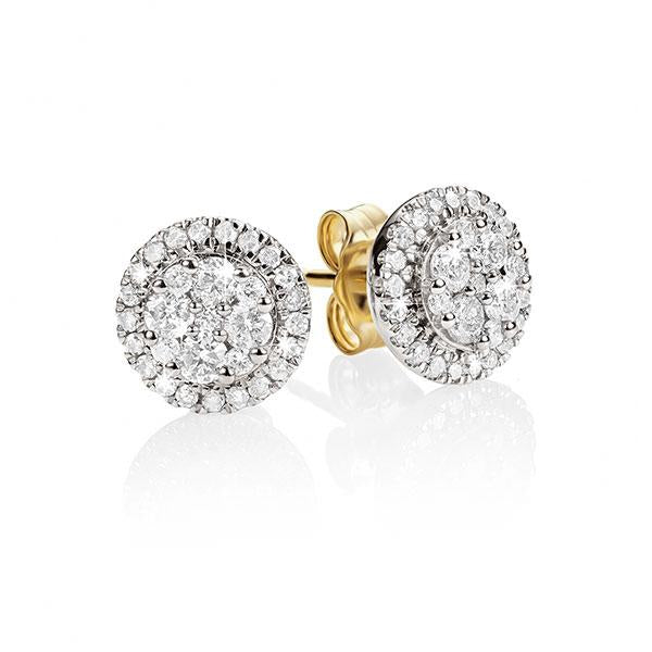 9ct gold 0.50ct+ diamond studs