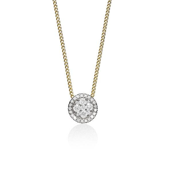 9ct gold 0.50ct+ diamond pendant #