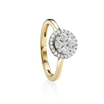 9ct gold 0.50ct+ diamond ring