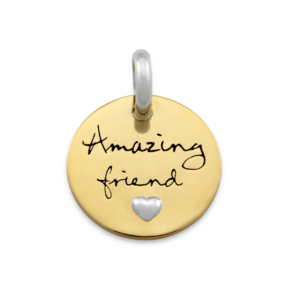 CANDID 'Amazing friend' disc pendant