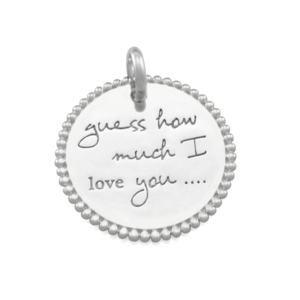 CANDID 'Guess how much I love you'disc pendant