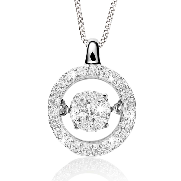Dancing Diamonds 9ct Halo Pendant