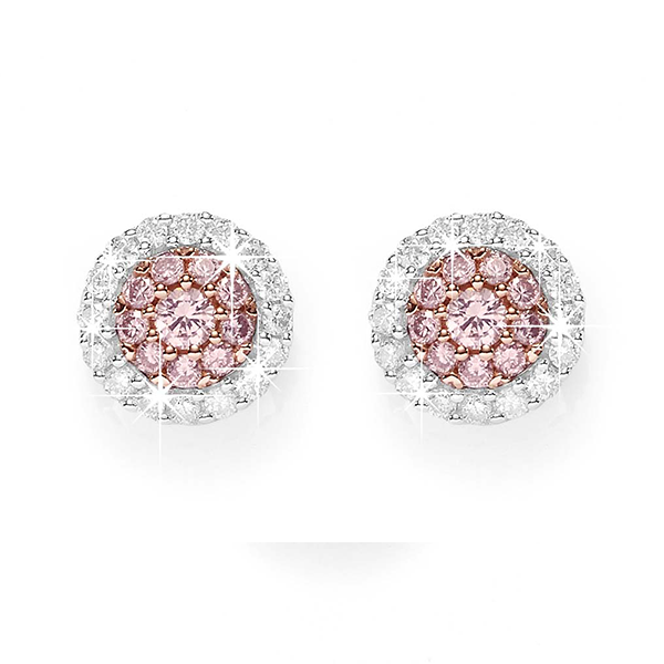 Desert Diamonds 9ct Pink Diamond Earrings