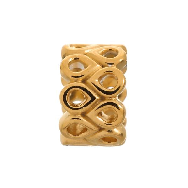 Endless Twist Gold Charm
