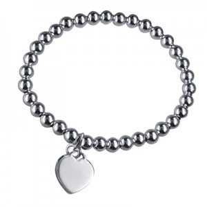 Ball bracelet with Heart Charm