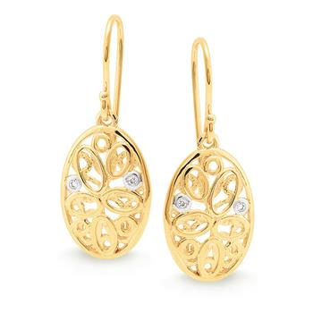 MMJ - Diamond Fancy Integral Design Earring