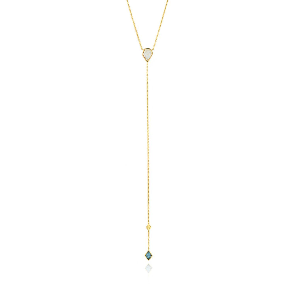 Ania Haie Mineral Turq And Opal Colour Y Necklace 48-53cm