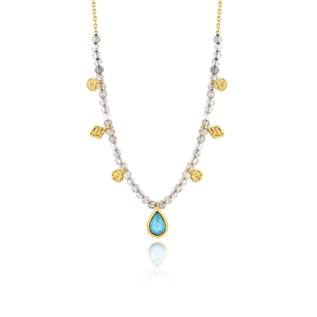 Ania Haie Mineral Turquoise Labradorite Necklace 33-38cm