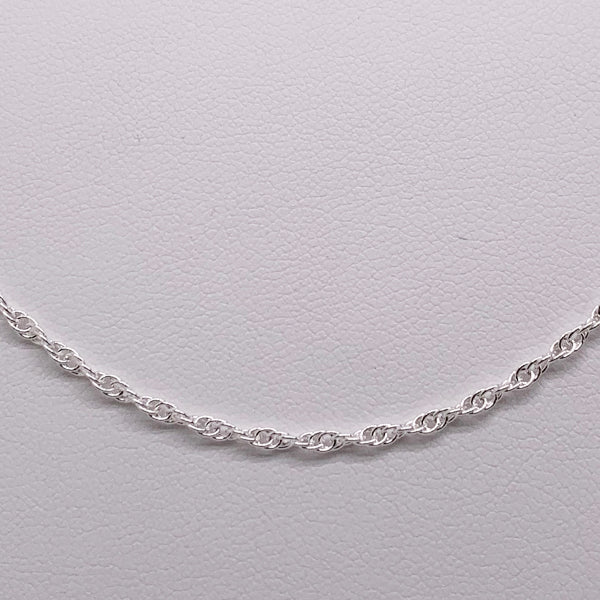 Sterling Silver 55cm Double Cable Chain