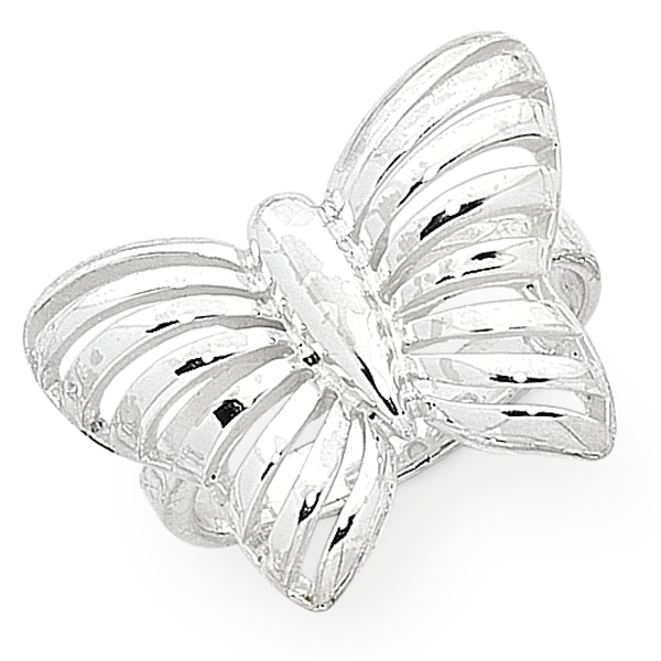 Sterling Silver Butterfly Ring