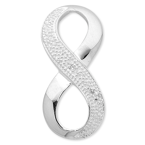 Sterling Silver Diamond Infinity Pendant