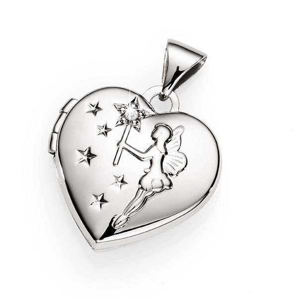 Sterling Silver Diamond-Set Fairy Locket
