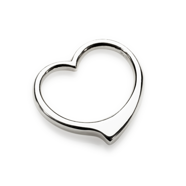 Sterling Silver Heart Slider Pendant