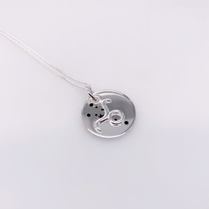 Sterling Silver Taurus pendant with chain