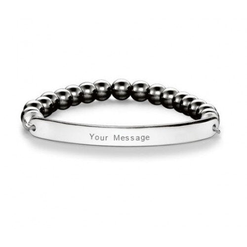 THOMAS SABO LOVE BRIDGE HEMATITE BRACELET