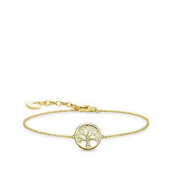 Thomas Sabo Tree Of Life Yellow Gold Bracelet 16-19cm