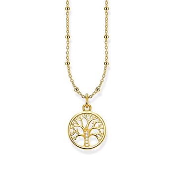 Thomas Sabo Tree Of Love Yellow Gold Necklace 40-45cm