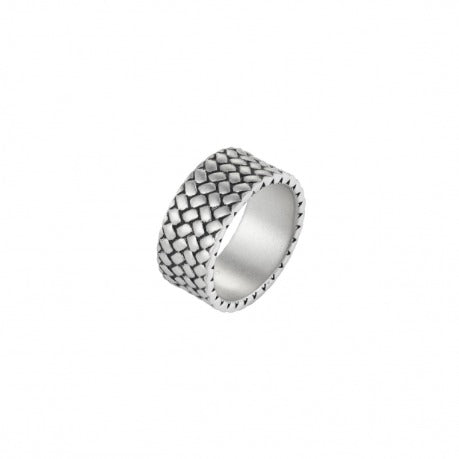 Stainless Steel Sand Blasted Tyre Pattern Ring