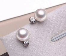 Load image into Gallery viewer, Diamond and South Sea Pearl Earrings.