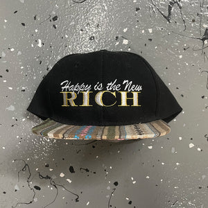 Happy is the New Rich Snapback Hat