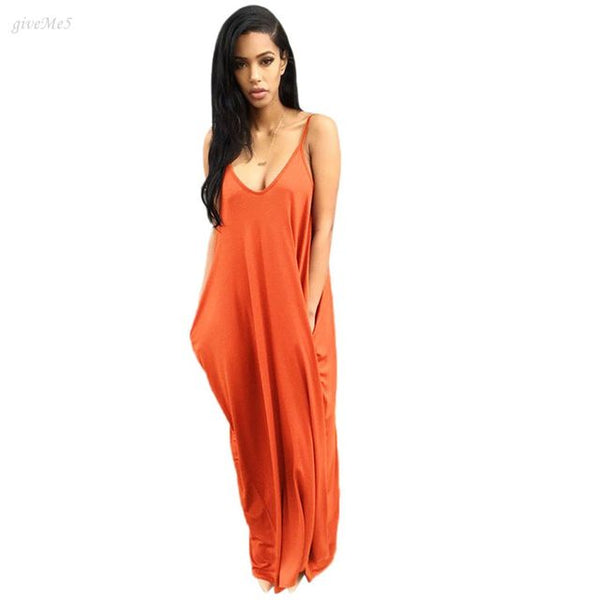 Easy Breezy Maxi -Orange