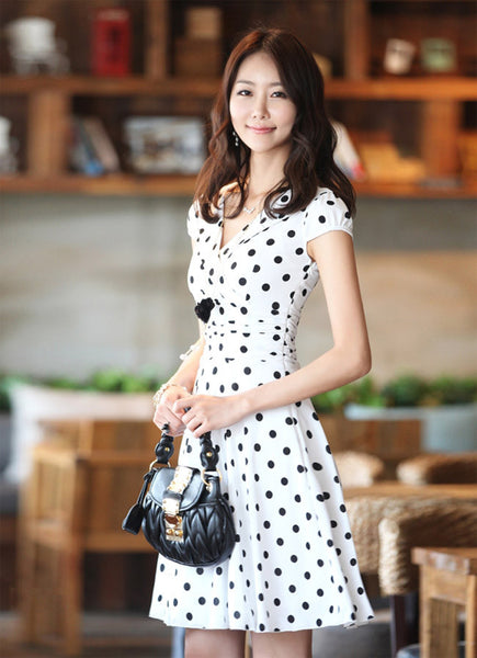 Soft and Feminine Polka Dot Dress