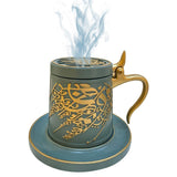 Bakhoor Big teacup Bukhoor Dukhoon Electric Portable Incense Burner-blue