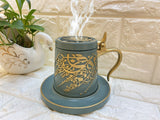 Bakhoor Big teacup Bukhoor Dukhoon Portable Incense Burner-green
