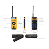 Crony CY-919 Rechargeable Two-way Radios, Wireless Portable Business Walkie Talkies With solar charging, flashlight, compass