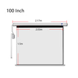Crony 100 Inch 4:3 Projection Screen Home Automatic Lifting  HD Projection Screen Wall Hanging Screen Electric Remote Control Projection Screen