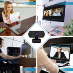 1080P Web Cameras for Computers with Built-in Microphone