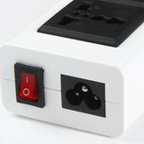 CRONY YC-CDA9 2+socket 6 USB Ports 2 Sockets with US Plug White