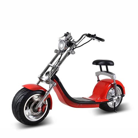X7 Harley Style 2 Wheel 1000W Fat Tyre Electric Single Seater Electric motorcycle-RED