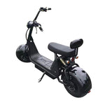 Big Harley BTSpeaker tyre Double Seat 1000W Electric motorcycle -BLACK